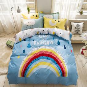 Уценка (дефекты)! Комплект постельного белья Следуйте за радугой (двуспальный-евро) (код товара: 46541): купить в Berni