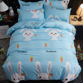 Комплект постельного белья Кролик с морковкой (двуспальный-евро) (код товара: 46610): купить в Berni