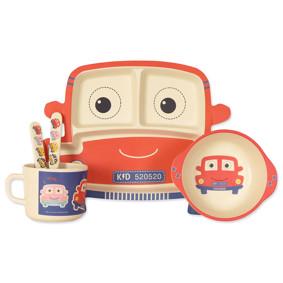 Набор посуды из бамбукового волокна Красная машина (код товара: 46611): купить в Berni