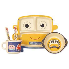Набор посуды из бамбукового волокна Желтая машина (код товара: 46612): купить в Berni