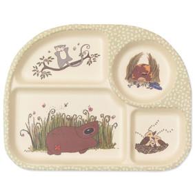 Тарелка из бамбукового волокна Милые животные (код товара: 46625): купить в Berni