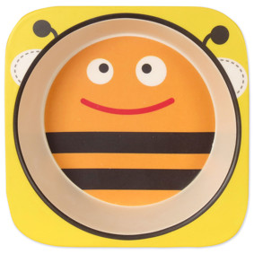 Тарелка из бамбукового волокна Пчела (код товара: 46655): купить в Berni