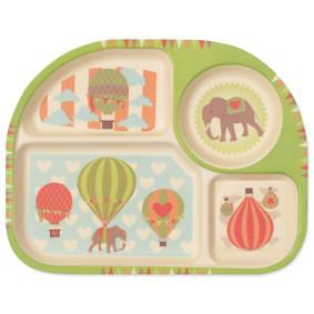 Тарелка из бамбукового волокна Слон на воздушном шаре (код товара: 46630): купить в Berni