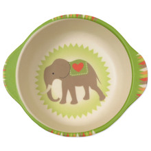 Тарелка из бамбукового волокна Слон на воздушном шаре (код товара: 46639)
