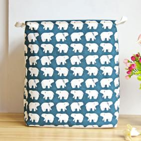 Уценка (дефекты)! Корзина для игрушек, белья, хранения на завязках Белые медведи (код товара: 46676): купить в Berni