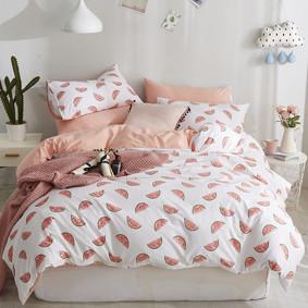 Комплект постельного белья Арбузные дольки (двуспальный-евро) (код товара: 46799): купить в Berni