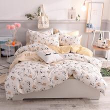 Комплект постельного белья Игривый кот (двуспальный-евро) (код товара: 46789)