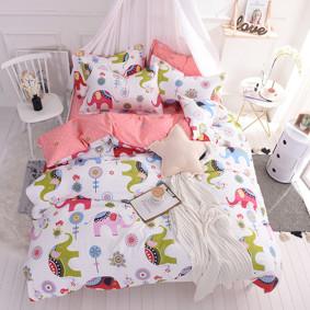 Комплект постельного белья Индийский слон (двуспальный-евро) (код товара: 46790): купить в Berni