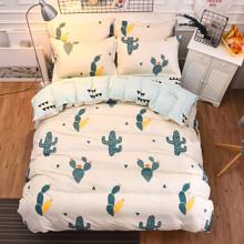 Комплект постельного белья Кактус (двуспальный-евро) (код товара: 46766)