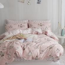 Комплект постельного белья Лесные животные (двуспальный-евро) (код товара: 46793)