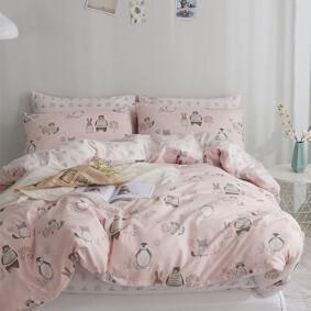 Комплект постельного белья Лесные животные (полуторный) (код товара: 46792): купить в Berni