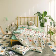 Комплект постельного белья Лисицы в траве (двуспальный-евро) (код товара: 46785)