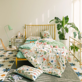 Комплект постельного белья Лисицы в траве (двуспальный-евро) (код товара: 46785): купить в Berni