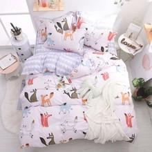 Комплект постельного белья Лисье семейство (двуспальный-евро) (код товара: 46788)