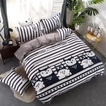Комплект постельного белья Совиное кафе (двуспальный-евро) (код товара: 46762)