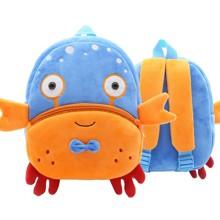 Рюкзак велюровый Голубой краб (код товара: 46749)