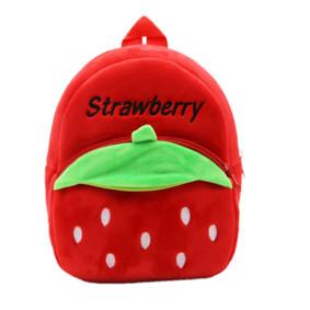 Рюкзак велюровый Клубника, красный оптом (код товара: 46725): купить в Berni