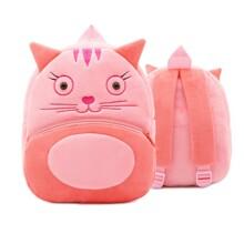 Рюкзак велюровый Кошка (код товара: 46740)
