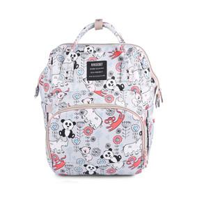 Сумка - рюкзак для мамы Панда, серый (код товара: 46713): купить в Berni