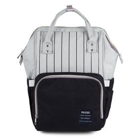 Сумка - рюкзак для мамы Полоска, черный (код товара: 46716): купить в Berni