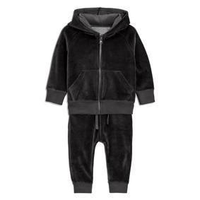 Флисовый костюм для мальчика 2 в 1 Черный динозаврик (код товара: 46803): купить в Berni