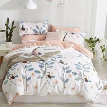 Комплект постельного белья Птица на ветке (двуспальный-евро) (код товара: 46801)