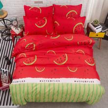 Уценка (без наволочек)! Комплект постельного белья Арбуз (полуторный) (код товара: 46856)