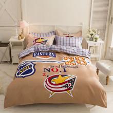 Уценка (дефекты)! Комплект постельного белья НХЛ (полуторный) (код товара: 46874)