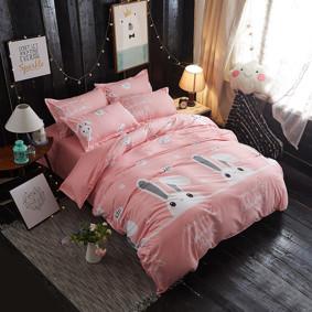 Уценка (дефекты)! Комплект постельного белья Зайка (двуспальный-евро) (код товара: 46863): купить в Berni