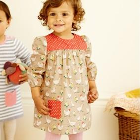 Платье для девочки Домашние птицы (код товара: 46948): купить в Berni