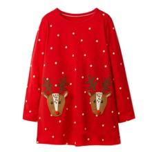 Платье для девочки Праздничные олени (код товара: 46978)