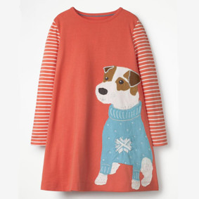Платье для девочки Щеночек (код товара: 46983): купить в Berni