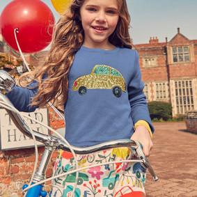 Платье для девочки Золотой автомобиль (код товара: 46955): купить в Berni