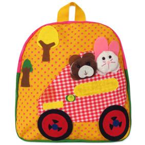 Рюкзак Машина с животными, желтый (код товара: 46914): купить в Berni