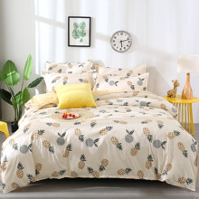 Комплект постельного белья Ананас (двуспальный-евро) (код товара: 47045)