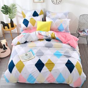 Комплект постельного белья Ромбы (двуспальный-евро) (код товара: 47047): купить в Berni
