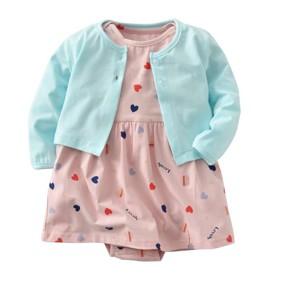 Комплект для девочки 2 в 1 Сердечки (код товара: 47235): купить в Berni