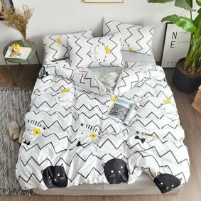 Комплект постельного белья Благородный кот (двуспальный-евро) (код товара: 47293): купить в Berni