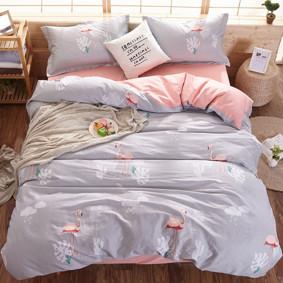 Комплект постельного белья Фламинго (двуспальный-евро) (код товара: 47275): купить в Berni
