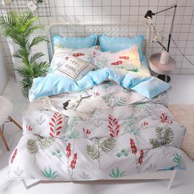 Комплект постельного белья Красные колокольчики (двуспальный-евро) (код товара: 47289): купить в Berni