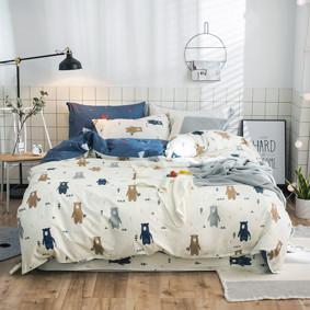 Комплект постельного белья Медвежий лес (двуспальный-евро) (код товара: 47269): купить в Berni