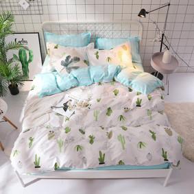 Комплект постельного белья Кактусы (двуспальный-евро) (код товара: 47301): купить в Berni
