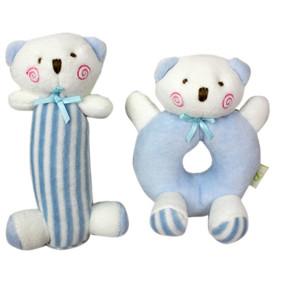 Набор мягких игрушек - погремушек Медвежата оптом (код товара: 47309): купить в Berni
