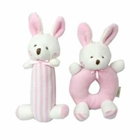 Набор мягких игрушек - погремушек Зайчата оптом (код товара: 47310): купить в Berni