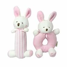 Набор мягких игрушек - погремушек Зайчата оптом (код товара: 47310)
