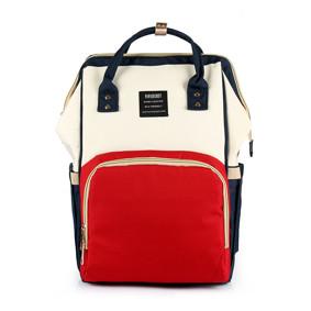 Сумка - рюкзак для мамы Красно - бежевый (код товара: 47370): купить в Berni
