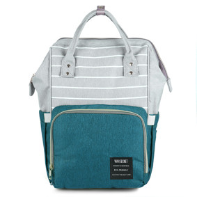 Сумка - рюкзак для мамы Полоска, зеленый (код товара: 47363): купить в Berni