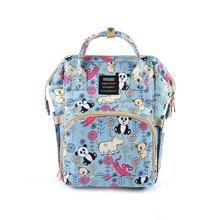 Сумка - рюкзак для мами Панда, синій оптом (код товара: 47372)