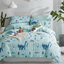 Уценка (дефекты)! Комплект постельного белья Динозавры (двуспальный-евро) (код товара: 47454)