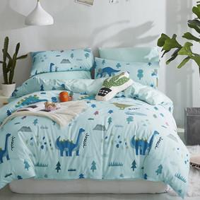 Уценка (дефекты)! Комплект постельного белья Динозавры (двуспальный-евро) (код товара: 47454): купить в Berni